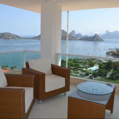 Mansão magnífica São Francisco vista Baía de Guanabara 5 quartos + hóspede 4 vagas piscina